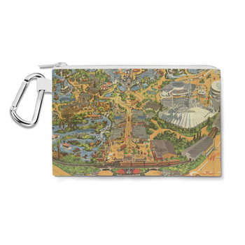Canvas Zip Pouch - Disneyland Vintage Map