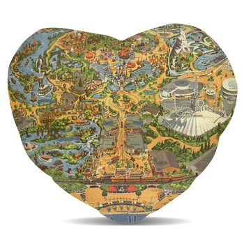 Fleece Cushion - Disneyland Vintage Map