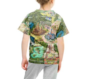 Youth Cotton Blend T-Shirt - Disneyland Colorful Map