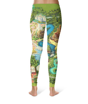 Sport Leggings - Disneyland Colorful Map