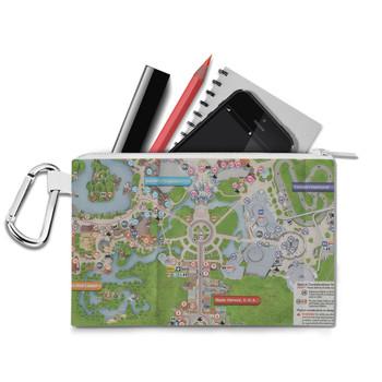 Canvas Zip Pouch - Magic Kingdom Map