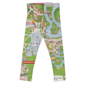 Girls' Leggings - Magic Kingdom Map