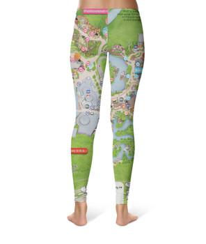 Sport Leggings - Magic Kingdom Map