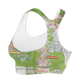 Sports Bra - Magic Kingdom Map