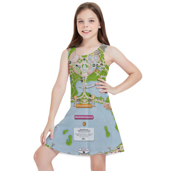 Girls Sleeveless Dress - Epcot Center Map