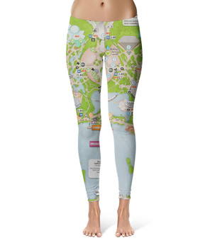 Sport Leggings - Epcot Center Map