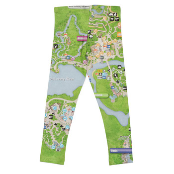 Girls' Leggings - Animal Kingdom Map