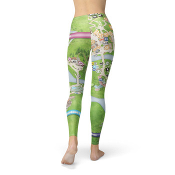 Winter Leggings - Animal Kingdom Map
