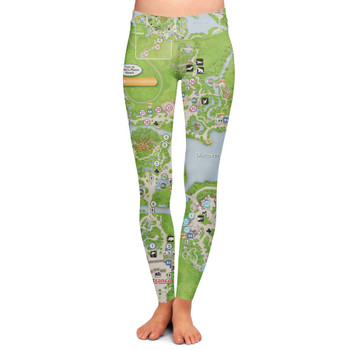 Yoga Leggings - Animal Kingdom Map
