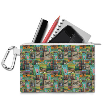 Canvas Zip Pouch - Adventureland Vintage Disney Attraction Posters