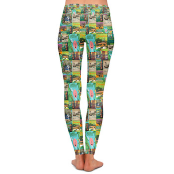 Yoga Leggings - Adventureland Vintage Disney Attraction Posters