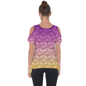 Cold Shoulder Tunic Top - Epcot Spaceship Earth