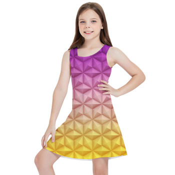 Girls Sleeveless Dress - Epcot Spaceship Earth