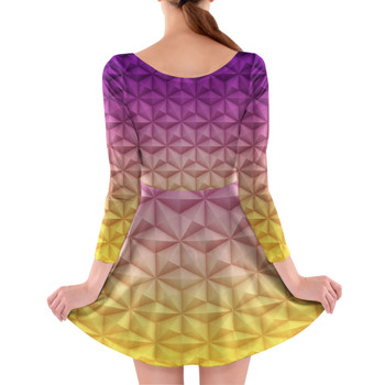 Longsleeve Skater Dress - Epcot Spaceship Earth