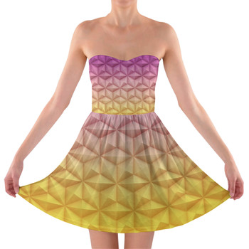 Sweetheart Strapless Skater Dress - Epcot Spaceship Earth