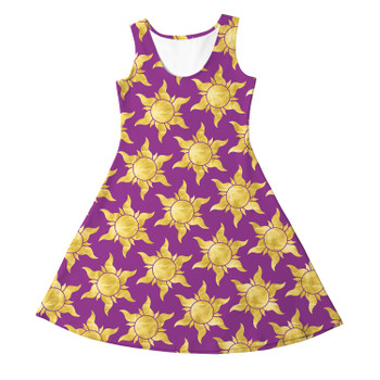 Girls Sleeveless Dress - Tangled Suns
