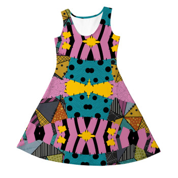 Girls Sleeveless Dress - Ragdoll Patchwork Sally Inspired