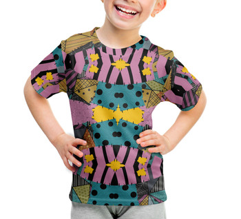 Youth Cotton Blend T-Shirt - Ragdoll Patchwork Sally Inspired