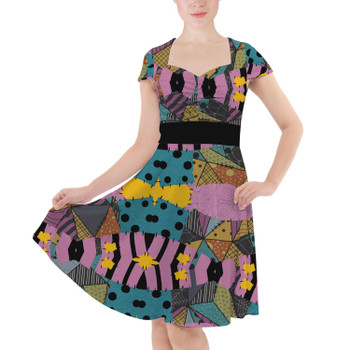 Sweetheart Midi Dress - Ragdoll Patchwork Sally Inspired