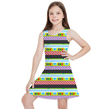 Girls Sleeveless Dress - Buzz Lightyear