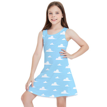 Girls Sleeveless Dress - Pixar Clouds