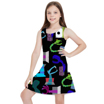 Girls Sleeveless Dress - Monsters in Closets