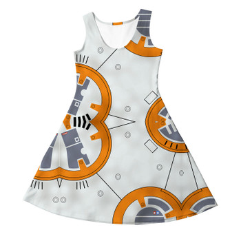 Girls Sleeveless Dress - Little Round Droid