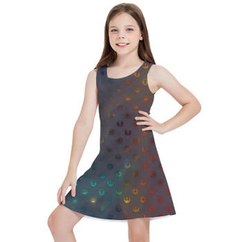 Girls Sleeveless Dress - Galaxy Far Away