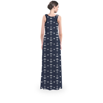 Flared Maxi Dress - Anchors Mouse Ears