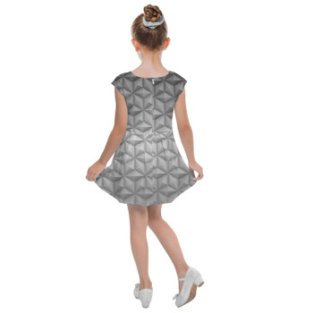 Girls Cap Sleeve Pleated Dress - EPCOT Icon