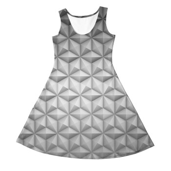 Girls Sleeveless Dress - EPCOT Icon