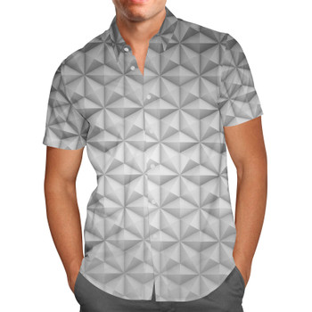 Men's Button Down Short Sleeve Shirt - EPCOT Icon