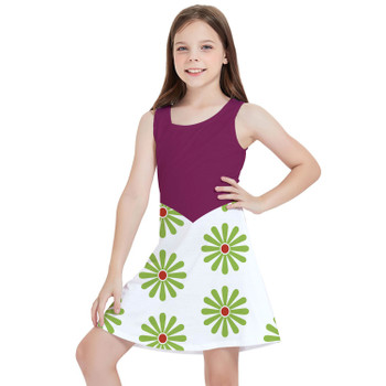 Girls Sleeveless Dress - Haunted Mansion Tightrope Walker