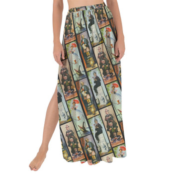 Maxi Sarong Skirt - Haunted Mansion Stretch Paintings