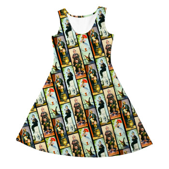 Girls Sleeveless Dress - Haunted Mansion Stretch Paintings