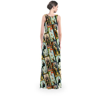 Flared Maxi Dress - Haunted Mansion Stretch Paintings
