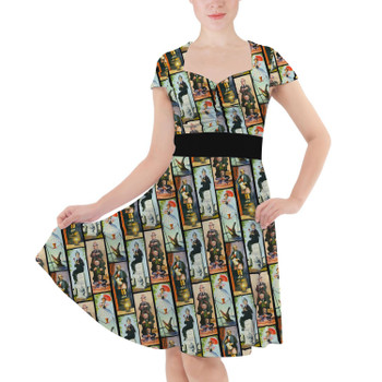 Sweetheart Midi Dress - Haunted Mansion Stretch Paintings