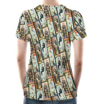 Women's Cotton Blend T-Shirt - Haunted Mansion Stretch Paintings