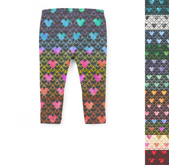 Girls' Capri Leggings - Mouse Ears Watercolor