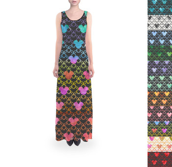 Flared Maxi Dress - Mouse Ears Watercolor
