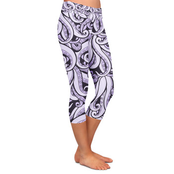 Yoga Capri Leggings - Ursula Villains Inspired