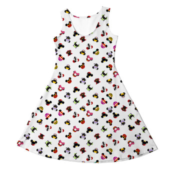Girls Sleeveless Dress - Villains Mouse Ears