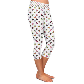 Yoga Capri Leggings - Villains Mouse Ears