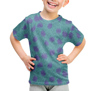 Youth Cotton Blend T-Shirt - Sully Fur Monsters Inc Inspired