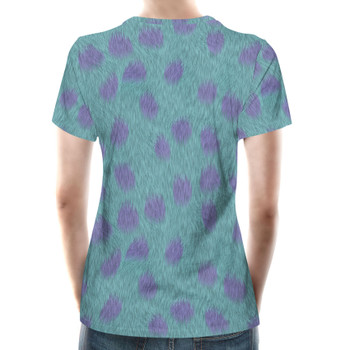 Women's Cotton Blend T-Shirt - Sully Fur Monsters Inc Inspired