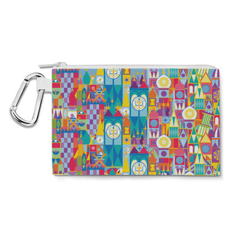 Canvas Zip Pouch - Its A Small World Disney Parks Inspired