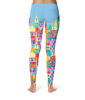 Sport Leggings - Its A Small World Disney Parks Inspired
