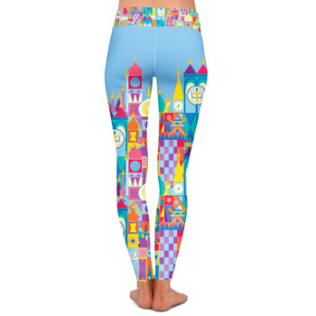 Yoga Leggings - Its A Small World Disney Parks Inspired