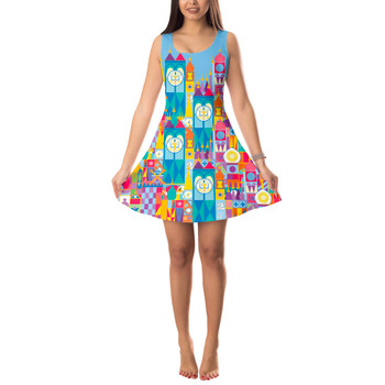 Sleeveless Flared Dress - Its A Small World Disney Parks Inspired