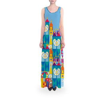 Flared Maxi Dress - Its A Small World Disney Parks Inspired